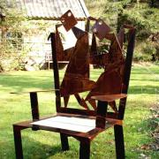 fauteuil rouillé